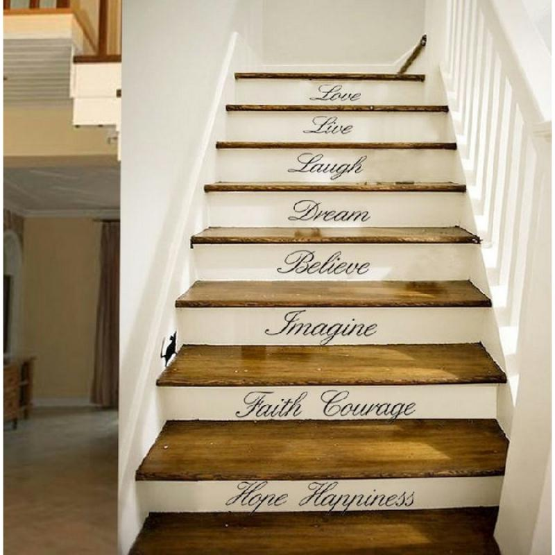 8 stickers adh sifs pour marches d 39 escalier de 45 72 cm stickers muraux creavea. Black Bedroom Furniture Sets. Home Design Ideas