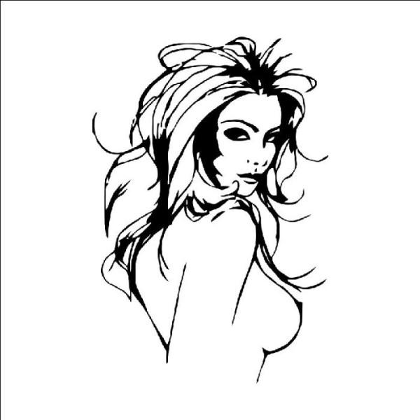 Sticker adhésif belle femme nue sexy (42 x 61 cm) - Photo n°3