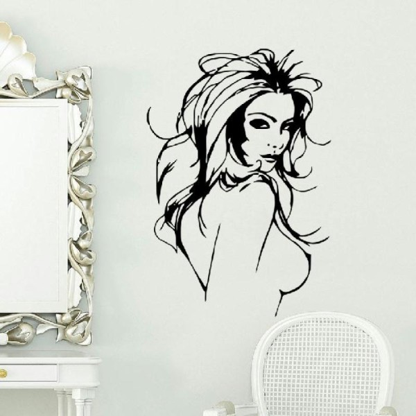 Sticker adhésif belle femme nue sexy (42 x 61 cm) - Photo n°1