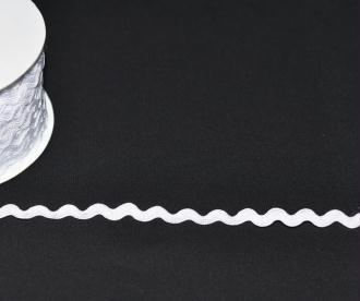 Ruban Croquet 5 mm Polyester Blanc au mètre - Qualité extra.