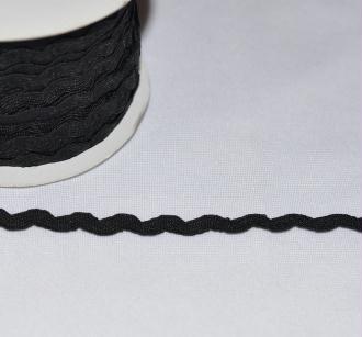Ruban Croquet 5 mm Polyester Noir au mètre - Qualité extra.
