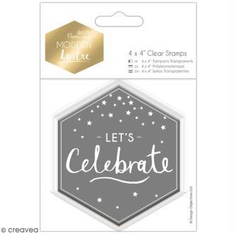 Tampon clear Docrafts Modern lustre - Let's Celebrate -  1 tampon