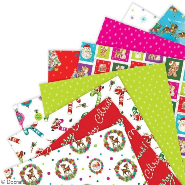 Papier scrapbooking Papermania - Love Santa - 36 feuilles 30 x 30 cm - Photo n°2