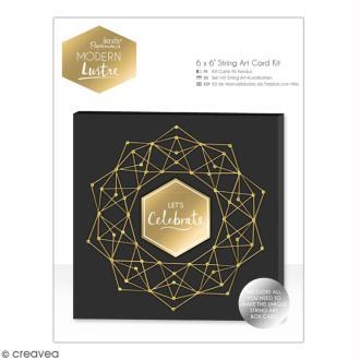 Kit carte de voeux Ficelle Docrafts Modern Lustre - 15,2 x 15,2 cm - 1 pce