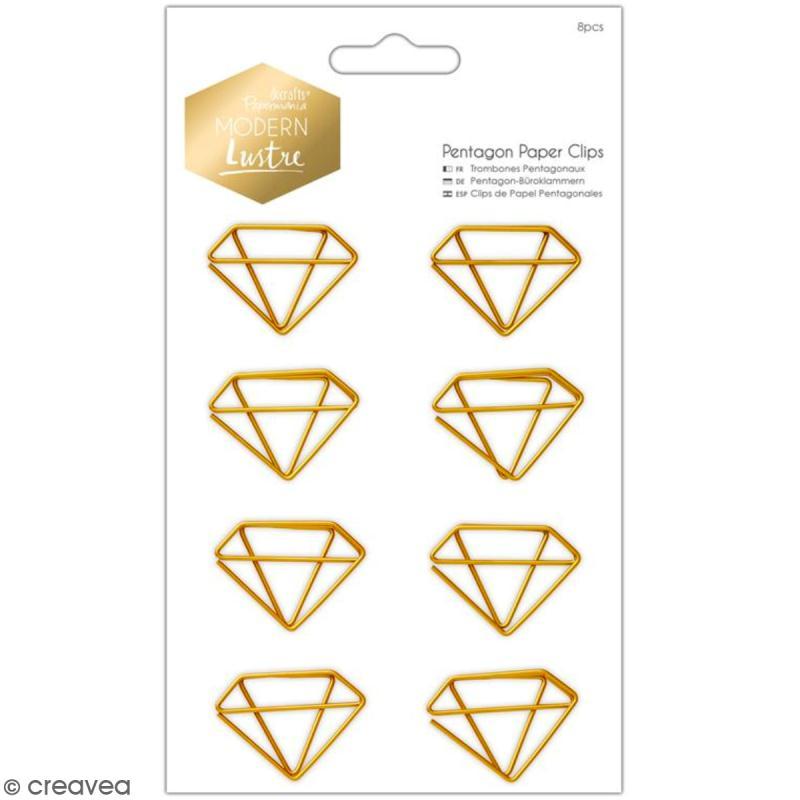 Trombones diamants Docrafts - Modern Lustre - 8 pcs - Photo n°1