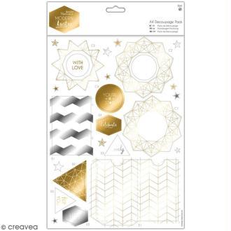 Kit Scrapbooking Docrafts - die cuts festifs Modern Lustre - 8 planches