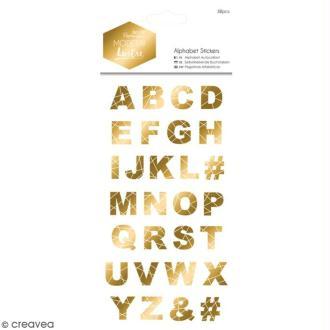 Stickers Alphabet Docrafts - Modern Lustre - 58 pcs