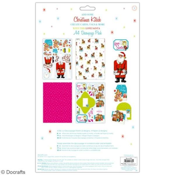 Pack Découpage A4 Docrafts- Love Santa - Bonhomme De Pain D'Épices - Photo n°2