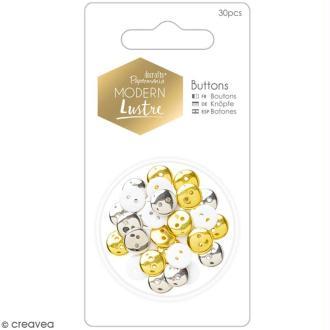 Assortiment boutons Noël Docrafts - Modern Lustre - 30 pcs