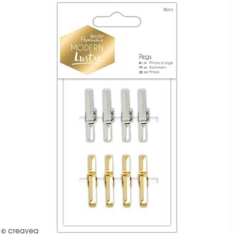Mini pinces à linge Modern Lustre Docrafts - 3 cm - 8 pcs