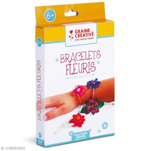 Kit Plastique Dingue - Bracelets fleuris - Photo n°1