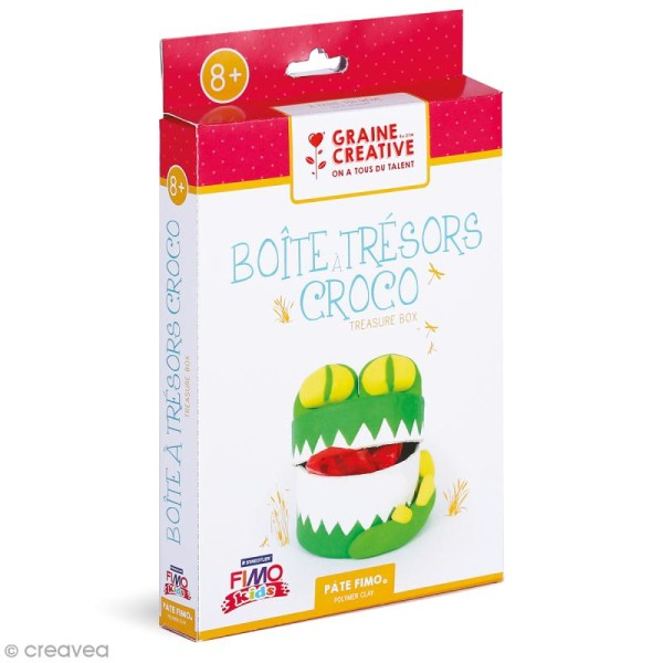 Kit pâte Fimo - Boîte à trésors Crocodile - Photo n°1