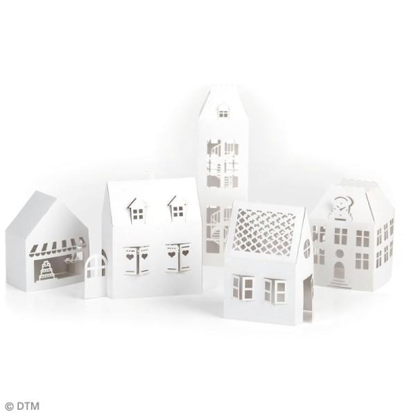 Décor 3D à fabriquer - Maisons en carton souple - 5 pcs - Photo n°2
