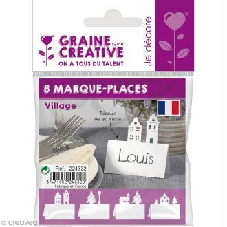 8 Marque-places - Village