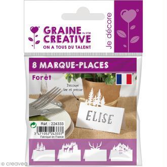 8 Marque-places - Forêt