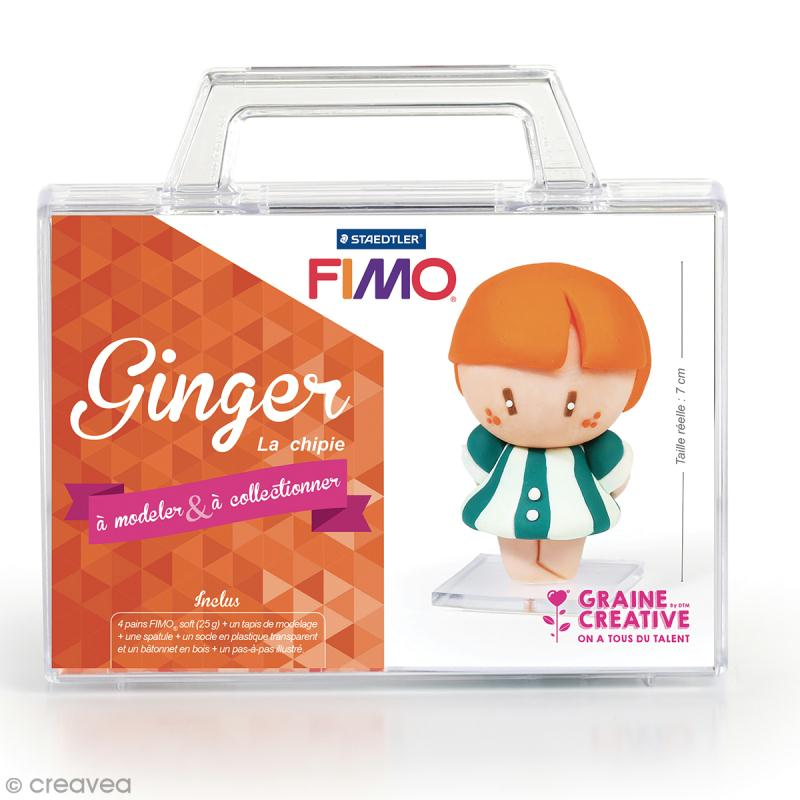 kit figurine fimo ginger la chipie coffret p te. Black Bedroom Furniture Sets. Home Design Ideas