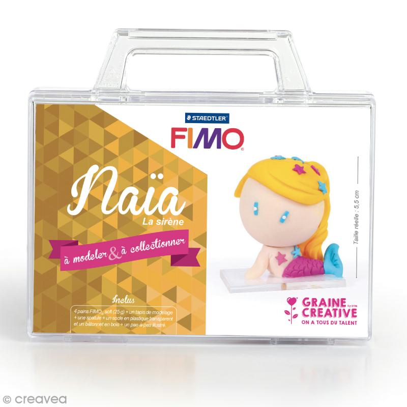 Kit figurine Fimo - Naïa la sirène - Photo n°1