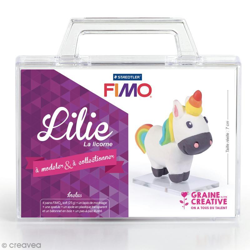 Kit figurine Fimo - Lilie la licorne - Photo n°1