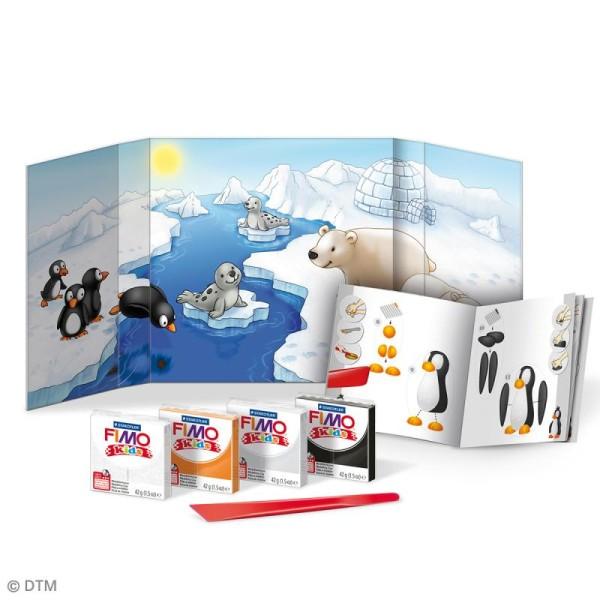 Kit pâte Fimo Kids - Animaux de la banquise - niveau moyen - Photo n°2