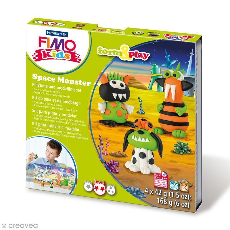 Kit pâte Fimo Kids - Monstre de l'espace - niveau moyen - Photo n°1
