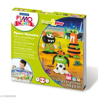 Kit pâte Fimo Kids - Monstre de l'espace - niveau moyen