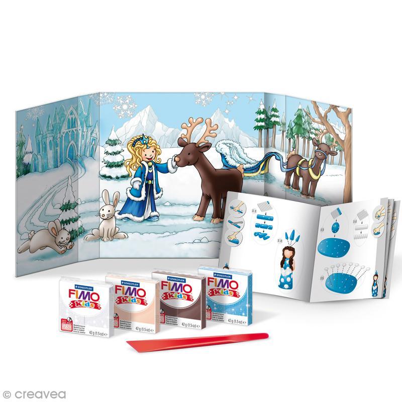 Kit pâte Fimo Kids - Pincesse des neiges - niveau Difficile - Photo n°2