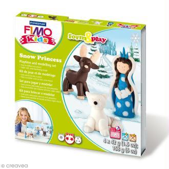 Kit Fimo Kids - Pincesse des neiges - niveau Difficile