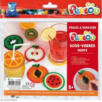 Kit Perles à repasser - Dessous de verre fruits