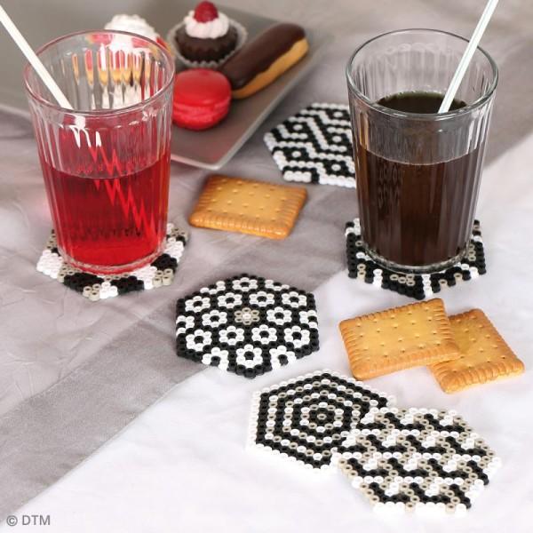 Kit Perles à repasser - Dessous de verre géométrique - Photo n°2