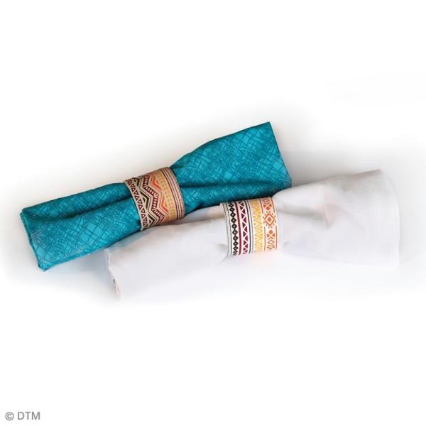 Pochoir pour impression de motifs sur pâte polymère - Aztèque - 11,4 x 15,3 cm - Photo n°2