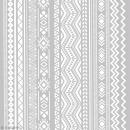 Pochoir pour impression de motifs sur pâte polymère - Aztèque - 11,4 x 15,3 cm - Photo n°1