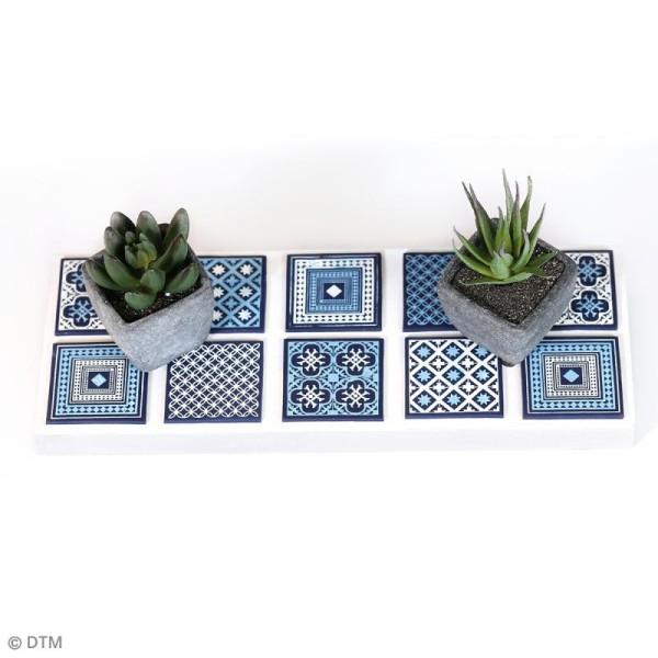 Pochoir pour impression de motifs sur pâte polymère - Carreaux ciment - 11,4 x 15,3 cm - Photo n°2