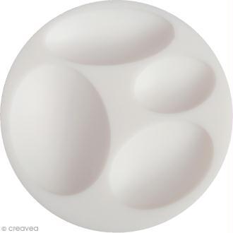 Mini moule silicone souple DTM - Cabochons ovales - 4 formes