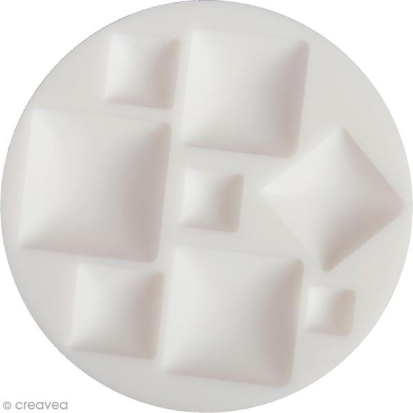 Mini moule silicone souple DTM - Cabochons carrés - 8 formes - Photo n°1