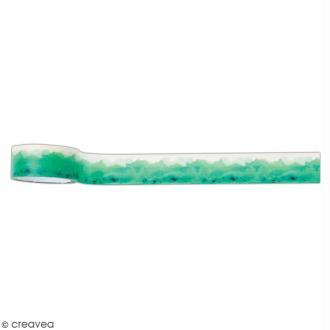 Ruban adhésif décoratif Papermania - Collection Elements Pigment - Encre verte - 3 m x 1,6 cm
