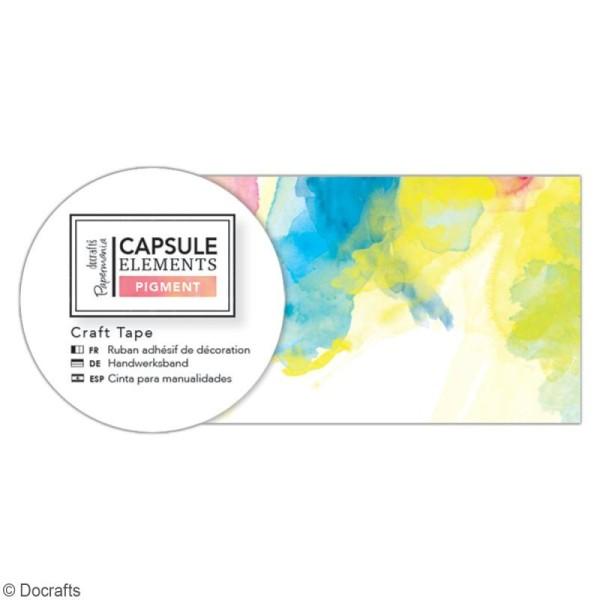 Ruban adhésif décoratif Papermania - Collection Elements Pigment - Mix couleurs - 3 m x 3,1 cm - Photo n°2
