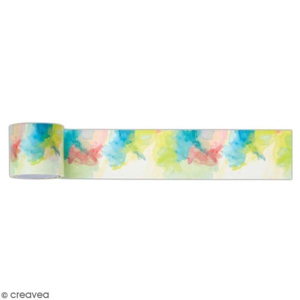 Ruban adhésif décoratif Papermania - Collection Elements Pigment - Mix couleurs - 3 m x 3,1 cm - Photo n°1