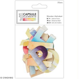 Lettres Bois - Collection Capsule Elements Pigment - 27 pcs