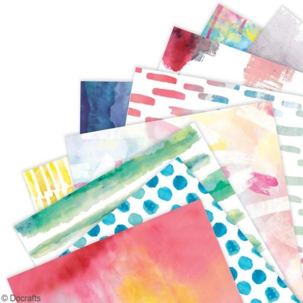 Papier scrapbooking Papermania - Collection capsule Elements Pigment - 30 x 30 cm - 36 feuilles - Photo n°2