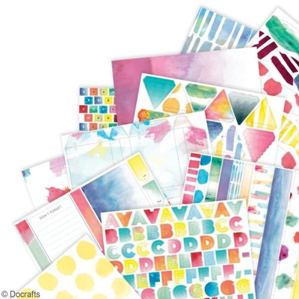 Pack Scrapbooking Papiers et die cuts Docrafts - Collection capsule Elements Pigment - A4 - 48 pcs - Photo n°2