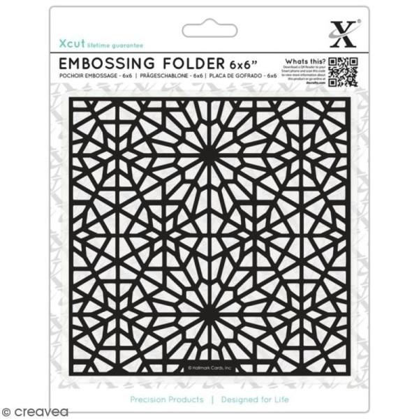 Pochoir d'embossage - Motifs Etoile Marocaine - 15 x 15 cm - Photo n°1