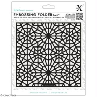 Pochoir d'embossage - Motifs Etoile Marocaine - 15 x 15 cm