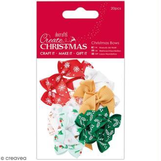 Assortiment petits noeuds colorés - Create Christmas - 20 pcs