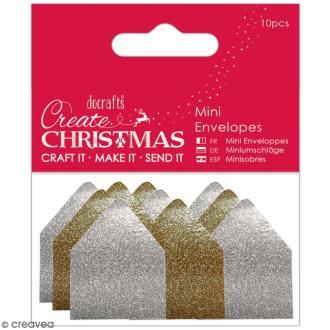 Assortiment de mini-enveloppes pailletées - 10 pcs