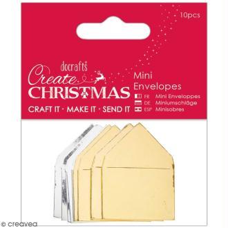 Assortiment de mini-enveloppes métallisées - 10 pcs