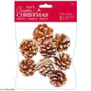 Grandes Pommes de pin blanchies - 8 pcs - Photo n°1