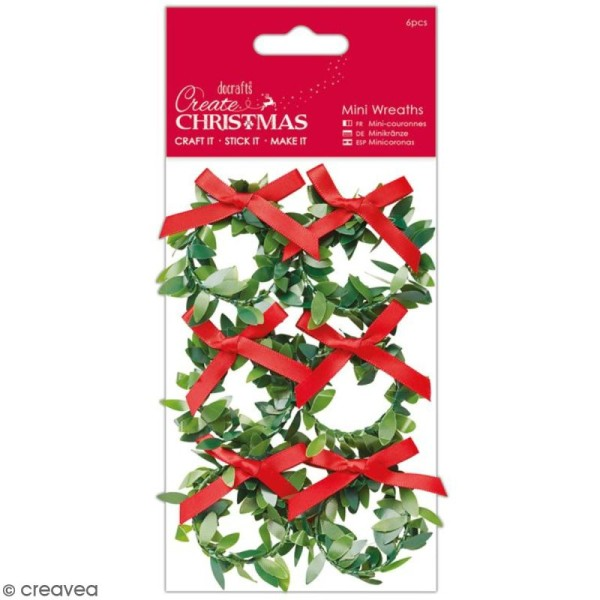Assortiment de mini couronnes - Create Christmas - 6 pcs - Photo n°1