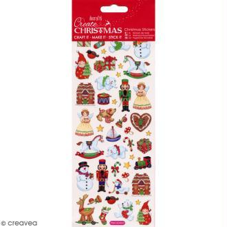 Autocollants de Noël foil - Jouets de Noël - 46 pcs