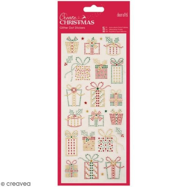 Stickers peel off de Noël pailletés - Cadeaux de Noël - 25 pcs - Photo n°1