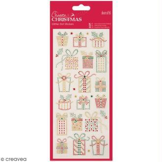 Stickers peel off de Noël pailletés - Cadeaux de Noël - 25 pcs